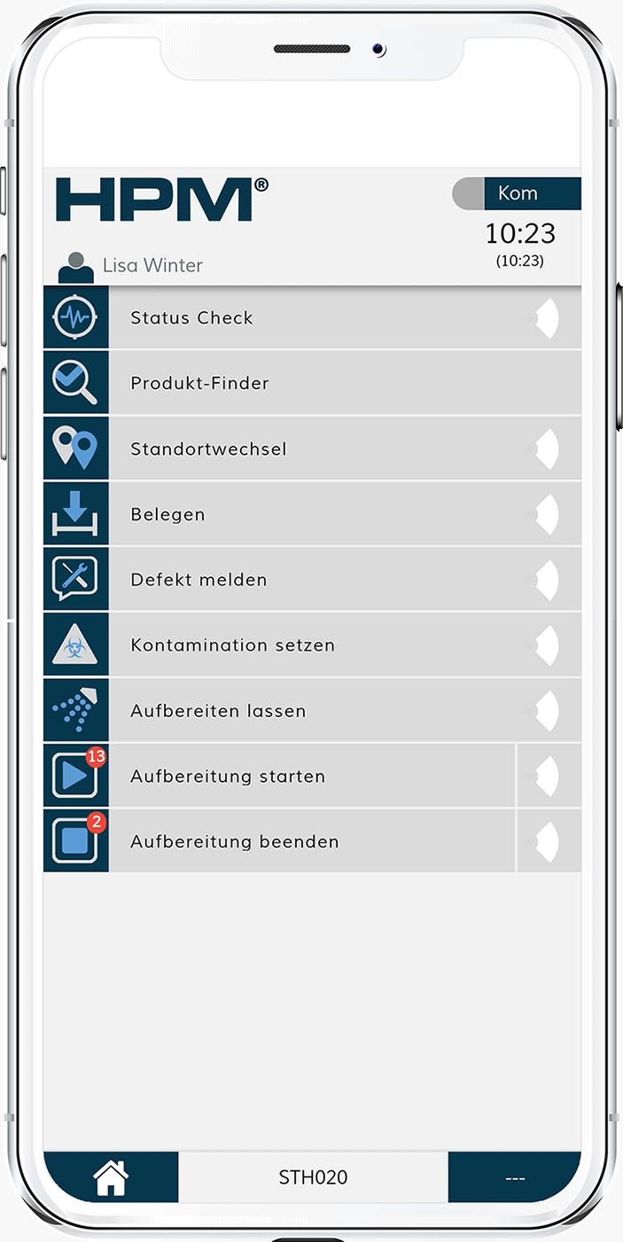 Das Modul Bettenmanangement im Krankenhaus von HPM arbeitet mit mobilen Endgeräten