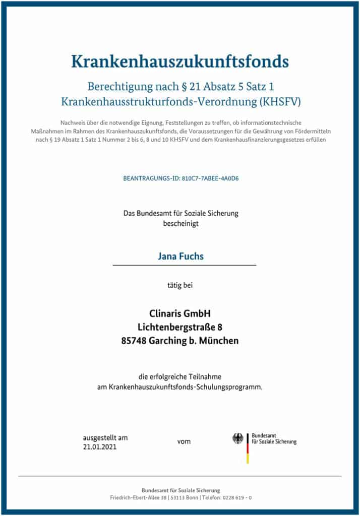 Berechtigt für KHZ-Fond-Beratung: Jana Fuchs