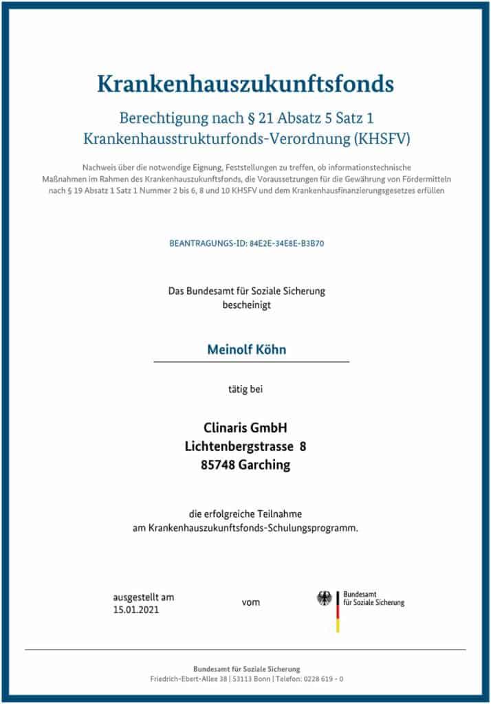 Berechtigt für KHZ-Fond-Beratung: Meinolf Köhn