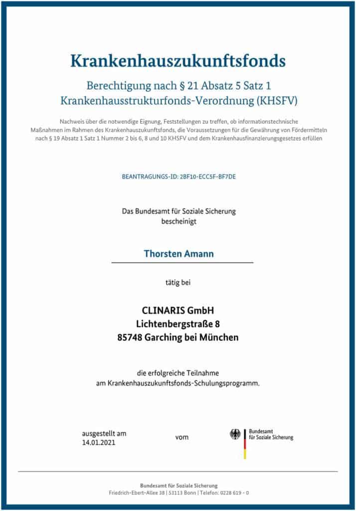 Berechtigt für KHZ-Fond-Beratung: Thorsten Amann