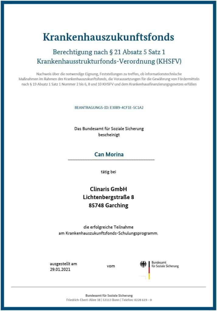 Berechtigt für KHZ-Fond-Beratung: Can Morina