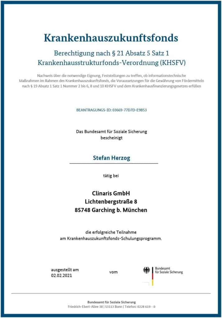 Berechtigt für KHZ-Fond-Beratung: Stefan Herzog